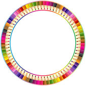 Round frame — Stockvektor