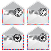 Signs in envelope. — Stock Vector