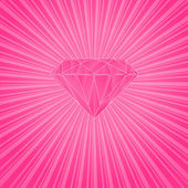 Pink diamond — Stock Vector