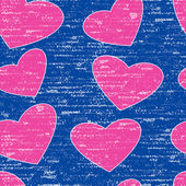 Pink grunge heart symbol — Stock Vector