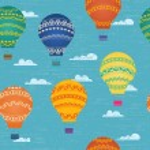 Balloon in the sky — Stock Vector #26534455