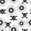 Targets and skulls — Image vectorielle