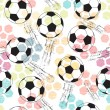 Background with print and soccer ball. — Stock Vector #28992779