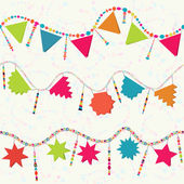 Happy Birthday garland background — Stock Vector