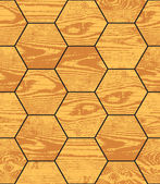 Wood parquet hexagon texture — ストックベクタ