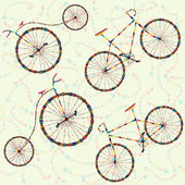 Background with carnival bike — Vettoriale Stock