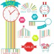 Set of sale label and sticker — Stock Vector