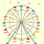 Background with carnival ferris wheel. — Wektor stockowy