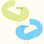 Gestileerde vogel — Stockvector