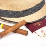 ������, ������: Cuban cigar and hat