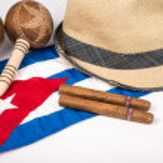 Постер, плакат: Cuban cigar and hat
