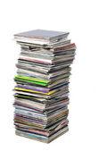 виниловые пластинки в куче — Стоковое фото