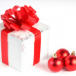 Colorful red gifts - Stock Photo