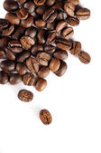 Coffee beans isolated on white — Stok fotoğraf