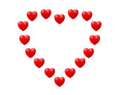 Heart shape illustration — Stock Photo