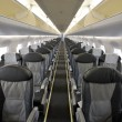 Interior of the passenger airplane — Stock Photo