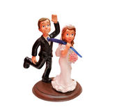 Nevěsta a ženich komické postavy — Stock fotografie
