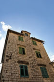 Old buildings in Kotor town — Stock Photo