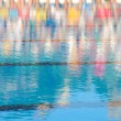 Reflection of in a swimming pool — Stock Photo