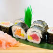 Japanese sushi, traditional japanese food - Stock Photo