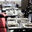 Empty tables in a 5 stars restaurant — Stock Photo #23118818