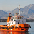 Orange tugboat — Stock Photo