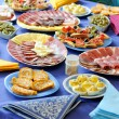 Stock Photo: Food table