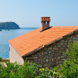 Stone house with beautiful view on Adriatic sea — Stock Photo