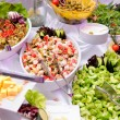 Stock Photo: Salads on party