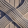 Stock Photo: Rope on the ship deck