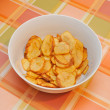 Homemade potatoes chips — Stock Photo