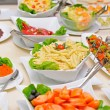 Colorful fresh salads on the table — ストック写真