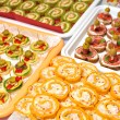 Plate of many mini size sandwich appetizers — Stock Photo #43147293