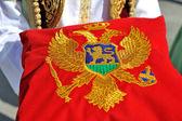 Montenegrin flag on pillow — Stock Photo