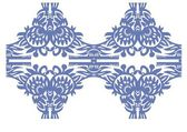 Blue floral decorative vintage — Vecteur