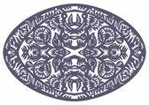Oval patrón decorativo azul — Vector de stock