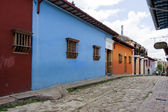 Bogota, Colombia - October 1, 2013: Typical street of touristy d — Foto de Stock