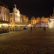 Poznan Old Town at Night — Stock Photo