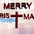 Stock Photo: Merry christmas cross
