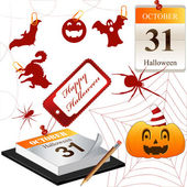 Vector Collection for Halloween — Stock Vector