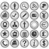 25 ícones de negócios — Vetorial Stock