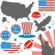 American symbols set - Stock Vector