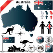 Australia map — Stock Vector