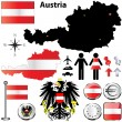 Austria map — Stock Vector