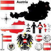 Austria map — Stock Vector