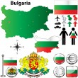 Bulgaria map — Stock Vector