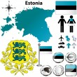 Estonia map — Stock Vector