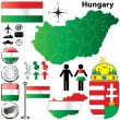 Hungary map — Stock Vector