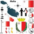 Royalty-Free Stock Vector Image: Malta map