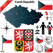Czech Republic map — Stock Vector